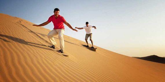 Sand boarding on highest dunes