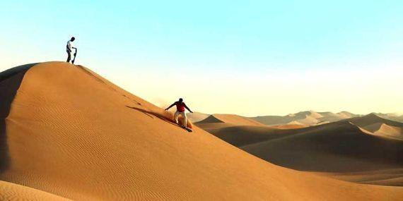 Tel Moreeb Dunes Sand bording