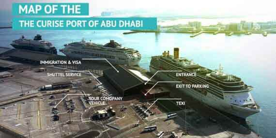 Quick guide to Map of Cruise terminal